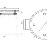 Слив донный круглый СД 65.2 (пленка)