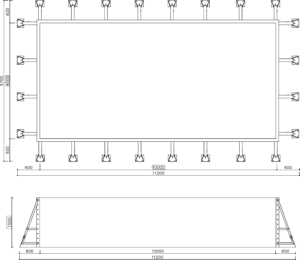 Панельный бассейн скиммерный 10*4.5*1.5