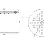 Слив донный круглый СД 60.1 (плитка)