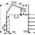 Лестница ML203( 3 ступени)