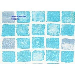 Пленка ПВХ 1,65х25,00м «Haogenplast», Snapir3, голубая мозайка