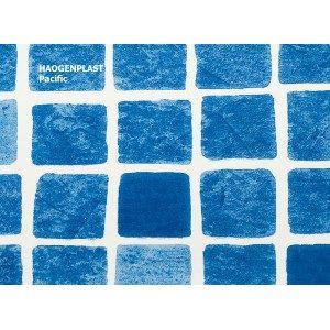 Пленка ПВХ 1,65х25,00м «Haogenplast», Pacific, синяя мозаика