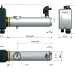 Электронагреватель из нержавеющей стали Pahlen Compact 9 кВт с датчиком потока