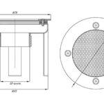 Водозабор с сетчатой крышкой ВЗ.620.4, д.165 2,0″ (внутр.), пленка