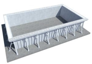 Панельный бассейн переливной 12*5*1.5
